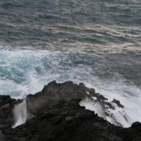 ハワイの海岸の波