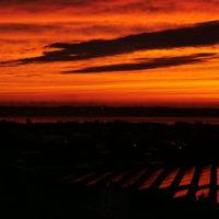 エクシブ浜名湖 客室から見た夕日