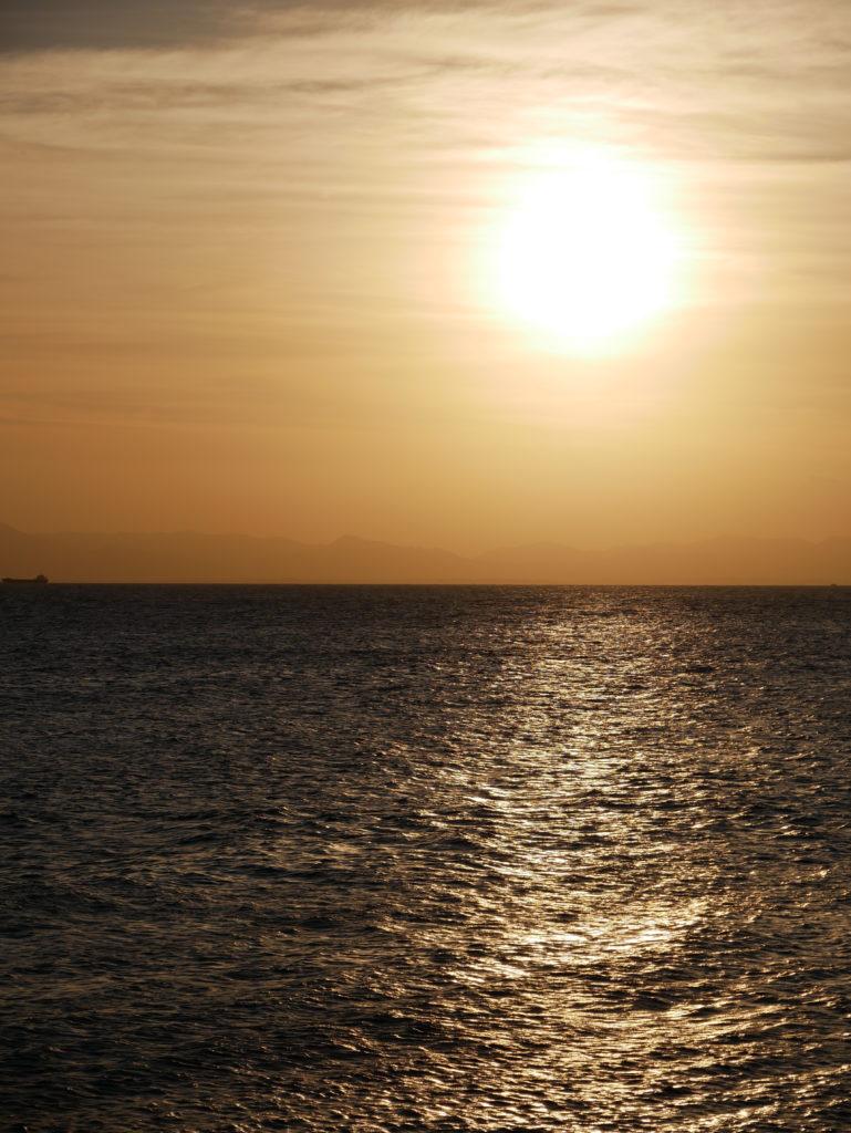 美浜町の夕日
