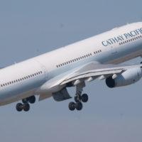 キャセイ航空のジェット機