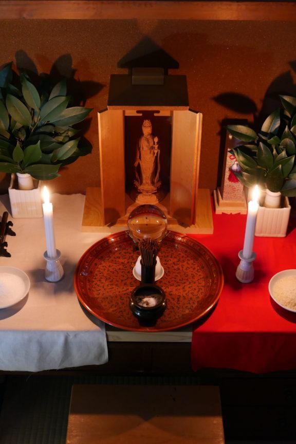 黒川家之祈りの神棚(お飾り)
