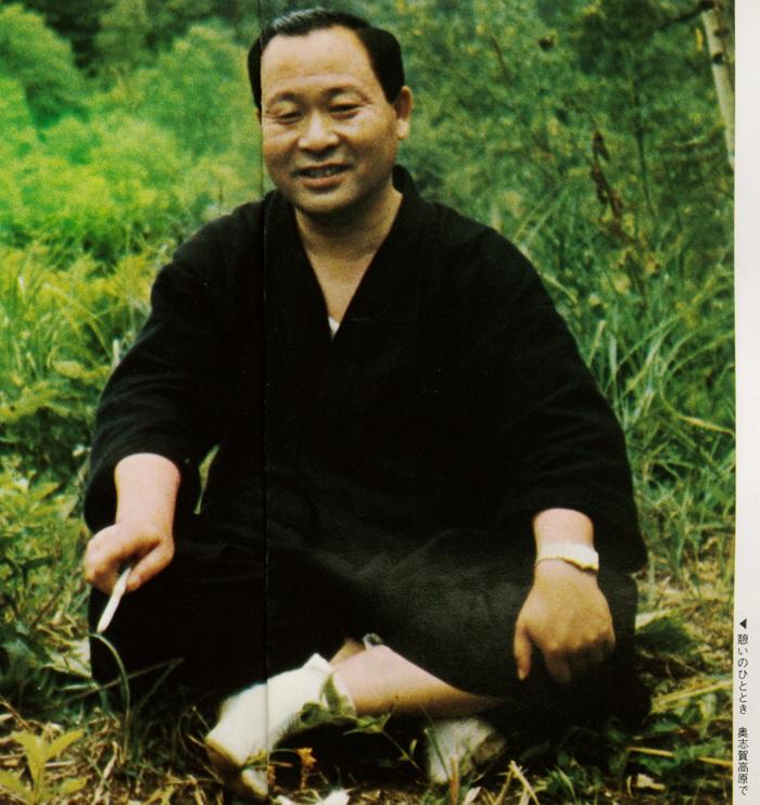 信次先生の憩いのひととき 奥志賀高原で
