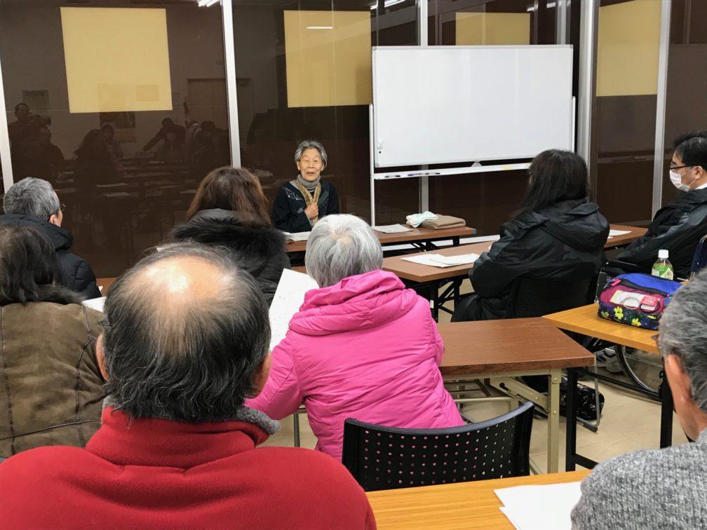 征さんのお話会 釧路活動センターわっと にて