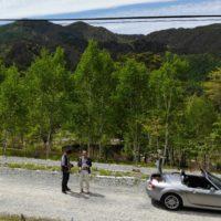 ドローンから撮影した別荘地での写真