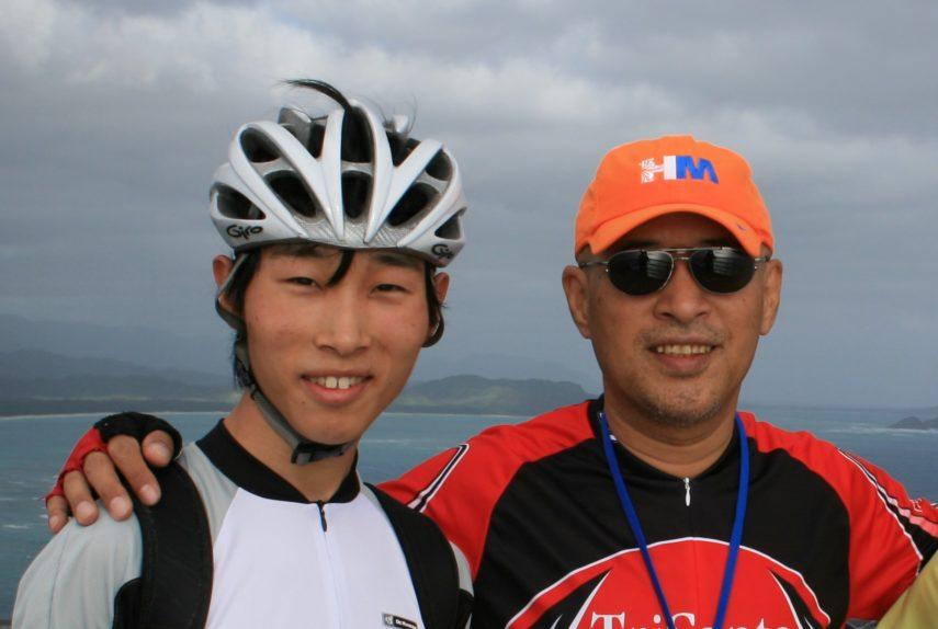 晃月師と息子 オアフ島でのサイクリング