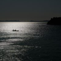 島から見た海