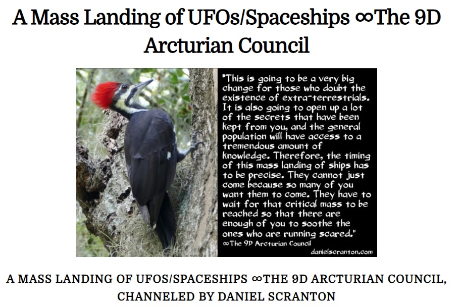 A MASS LANDING OF UFOS/SPACESHIPS ∞THE 9D ARCTURIAN COUNCIL