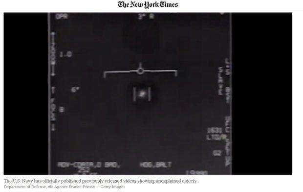 米国国防総省が存在を認めたUFO画像