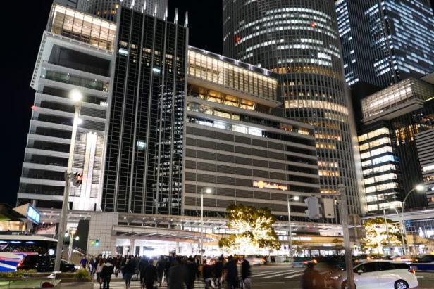 名古屋駅前の桜通り