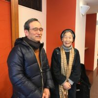 山田征さんと釧路のホテルで