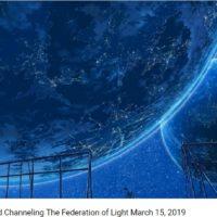 2019年3月15日:ブロッサム・グッドチャイルドを通して~光の銀河連合からのメッセージ~
