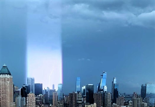 ニューヨークの光の柱 7月2日