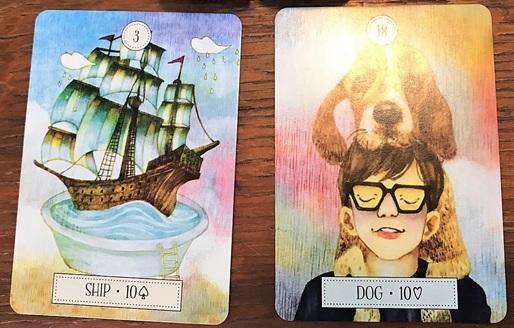 2枚のルノルマンカード