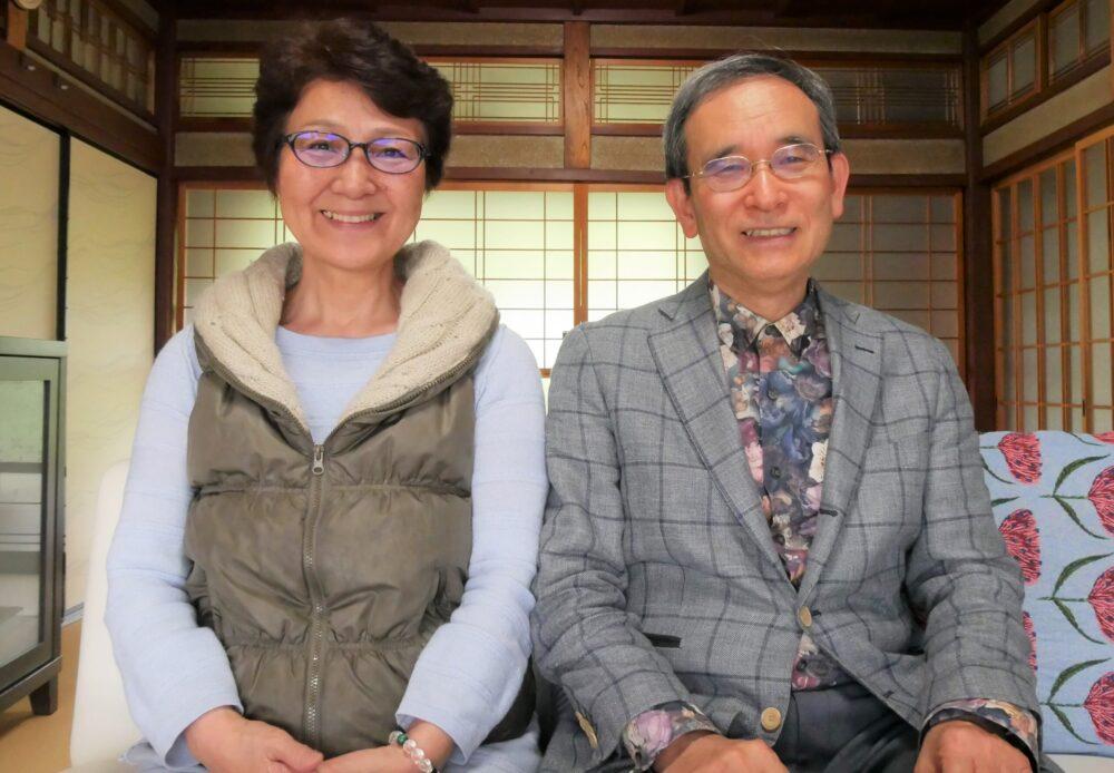 山口優子さんと、滋賀県余呉町にて。